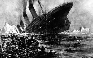 Illustration of the Sinking of the Titanic by Willy Stoewer